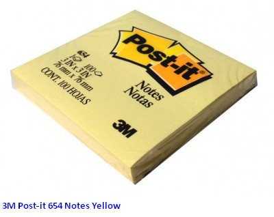 Supplier ATK Post-it 3M 654 Notes Yellow Harga Grosir