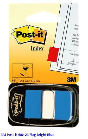 Supplier ATK Post-it 3M 680-23 Flag Bright Blue Harga Grosir