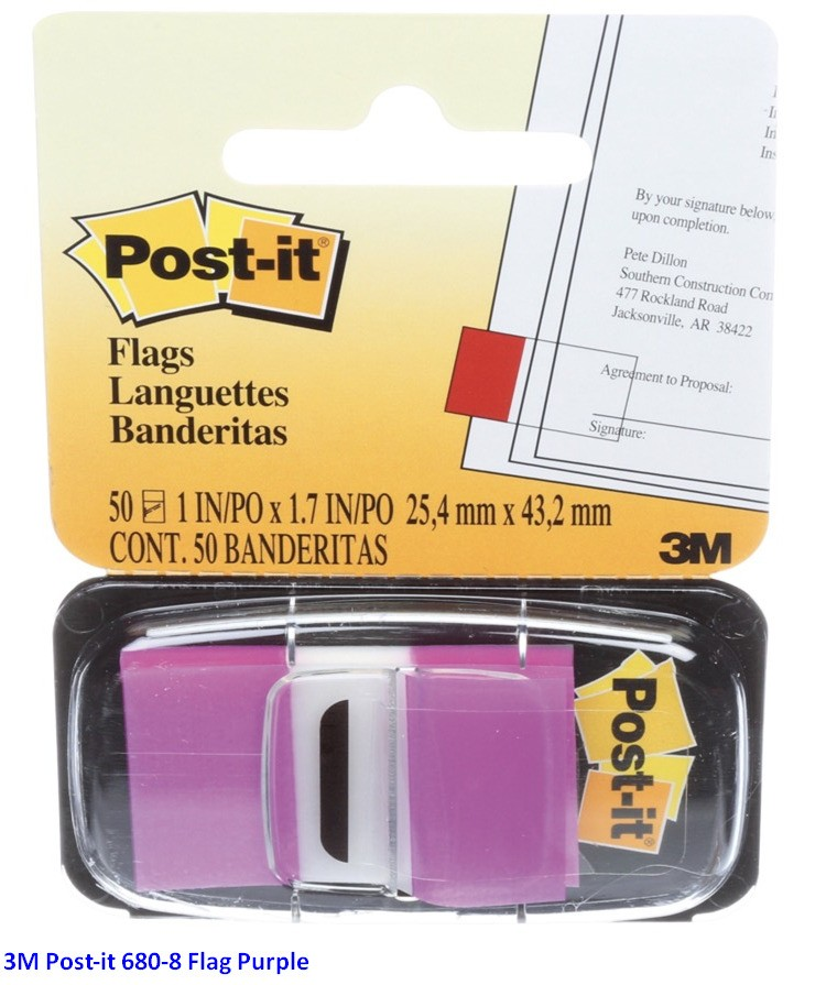 Supplier ATK Post-it 3M 680-8 Flag Purple Harga Grosir