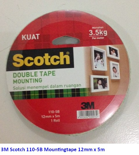 Supplier ATK Scotch 3M 110-5B Mountingtape 12mm x 5m Harga Grosir