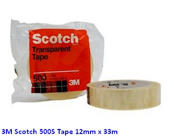 Supplier ATK Scotch 3M 500S Tape 12mm x 33m Harga Grosir