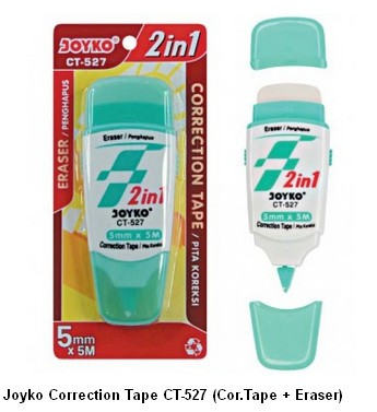 Supplier ATK Joyko Correction Tape CT-527 (Cor.Tape + Eraser) Harga Grosir