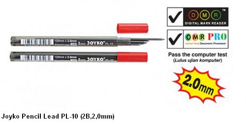 Supplier ATK Joyko Isi Pensil Mekanik PL-10 (2B, 2.0mm) Harga Grosir