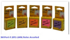 Supplier ATK Post-it 3M 2051-2ANL Notes Assorted Harga Grosir